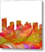 Scottsdale Arizona Skyline Metal Print