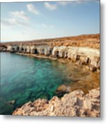 Sea Caves Ayia Napa - Cyprus Metal Print