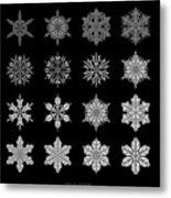 Snowflake Simulation Metal Print