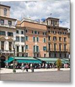 Streets Of Verona Metal Print