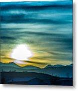Sunrise Over Colorado Rocky Mountains Metal Print
