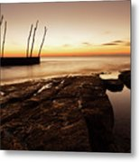Sunset At Basanija Metal Print