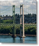 Tacoma Narrows Bridge Metal Print