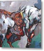 The Bulls Metal Print