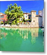 Town Of Sirmione Entrance Walls View Metal Print