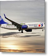 Travel Service Boeing 737-8cx Metal Print