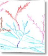 6 Winter Trees Metal Print