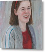 Young Woman Metal Print