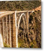 605 Det  Big Sur Bridge 2 Metal Print
