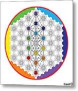 64 Tetra Chakra Activation Grid Metal Print