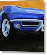 66 Corvette - Blue Metal Print