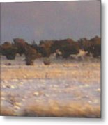 Snowy Desert Landscape Metal Print