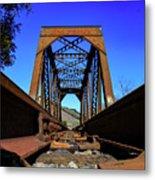 6696 Railroad Bridge Metal Print