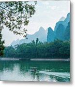 Lijiang River And Karst Mountains Scenery Metal Print