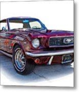 69 Ford Mustang Metal Print by Mamie Thornbrue