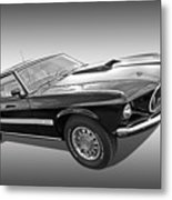 69 Mach1 In Black And White Metal Print