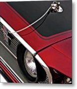 69 Mustang Hood Pin And Grille Metal Print