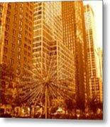 6th Avenue In Mahattan Metal Print