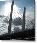 6th Street Bridge Backlit Metal Print