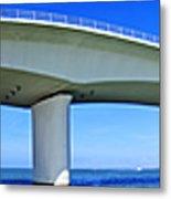 6x1 Sarasota Skyline With Ringling Causeway Bridge Metal Print