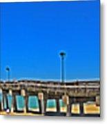6x1 Venice Florida Beach Pier Metal Print