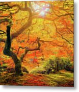 7 Abstract Japanese Maple Tree Metal Print