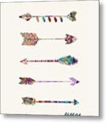 7 Arrows Metal Print