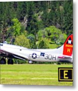 B-17 Bomber Taxiing 1 Metal Print