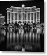 Bellagio Hotel And Casino At Night Metal Print