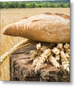 Bread And Wheat Cereal Crops. Metal Print by Deyan Georgiev