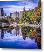 Charlotte City North Carolina Cityscape During Autumn Season Metal Print