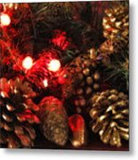 Christmas Tree Decorations Metal Print