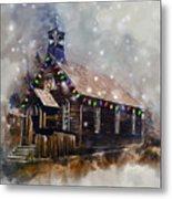 Church At Christmas Metal Print
