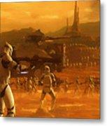 Episode 2 Star Wars Art Metal Print