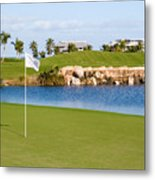 Florida Gold Coast Resort Golf Course Metal Print by ELITE IMAGE photography By Chad McDermott