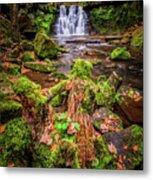 Goit Stock Waterfall Metal Print