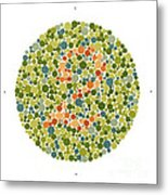 Ishihara Color Blindness Test Metal Print