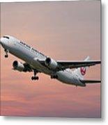 Japan Airlines Boeing 767-346 Metal Print