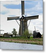 Kinderdijk Windmills Metal Print