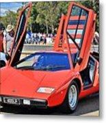 Lamborghini Countach Lp400 Metal Print