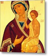 Madonna Enthroned Christian Art Metal Print