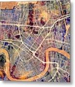 New Orleans Street Map Metal Print