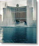 November 2017 Las Vegas Nv - Hotels And Restaurants On Las Vegas Metal Print
