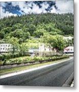 Port Of Juneau Alaska And Street Scenes Metal Print