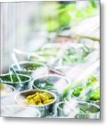 Salad Bar Buffet Fresh Mixed Vegetables Display Metal Print