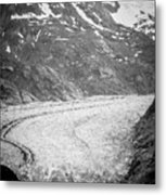 Sawyer Glacier In Tracy Arm Alaska Fjords Near Ketchikan Alaska Metal Print