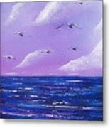 7 Seabirds Metal Print