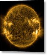 Solar Activity On The Sun Metal Print