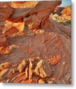 Sunrise On Valley Of Fire Metal Print