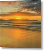Sunrise Seascape At The Beach Metal Print